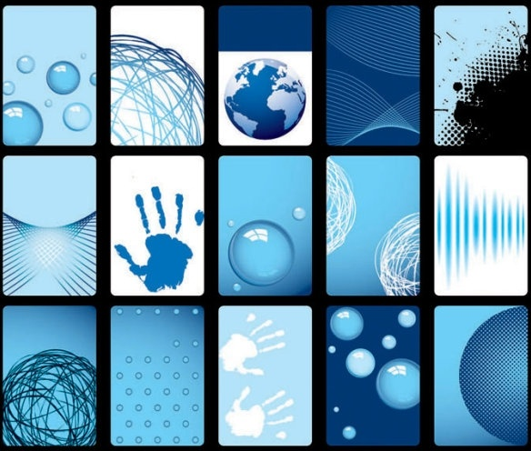 blue card background vector