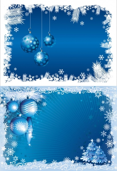 blue christmas background 03 vector - Blue Christmas Background