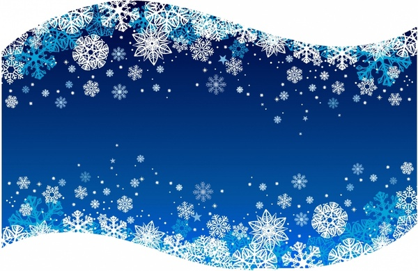 Blue snowflake background free vector download (53,593 ...