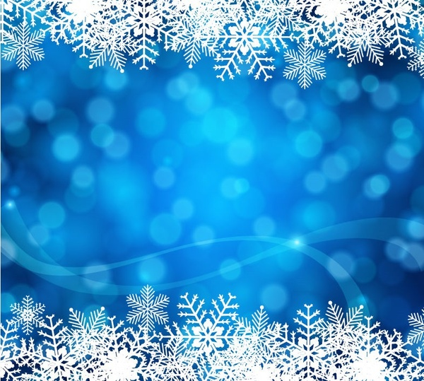 blue christmas background vector art - Blue Christmas Background