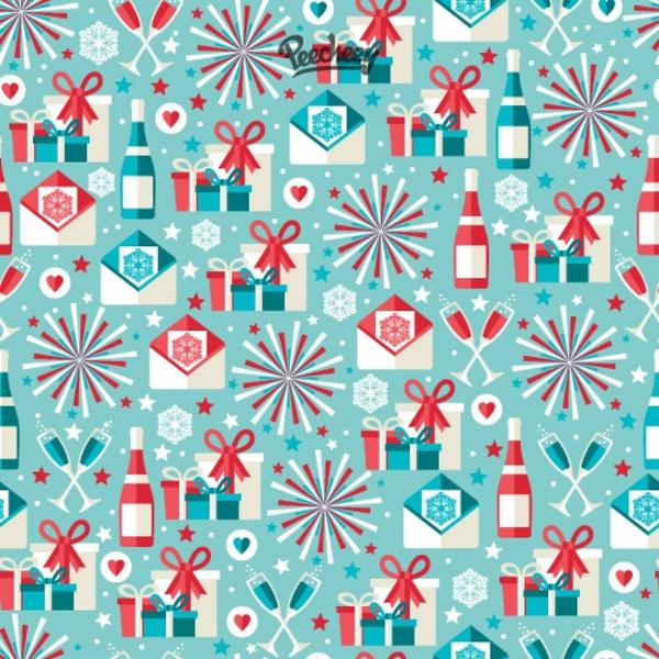 Merry christmas pattern | free vectors | ui download.