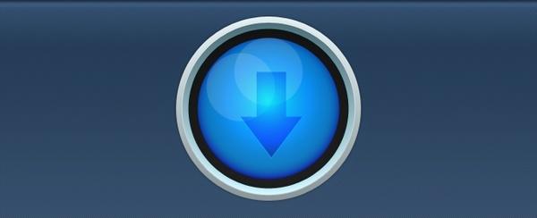 Blue Circular Download Button