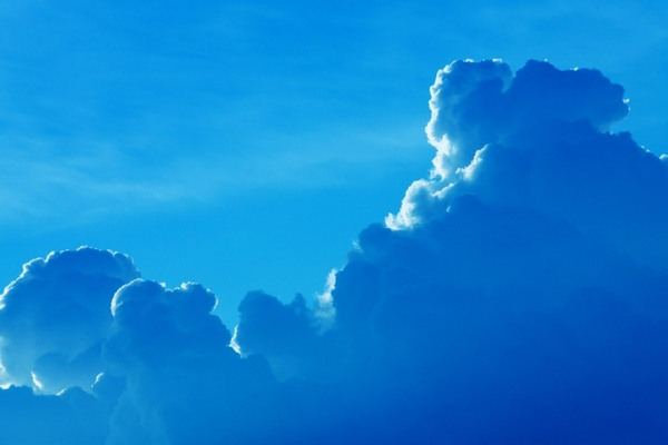 blue cloudscape