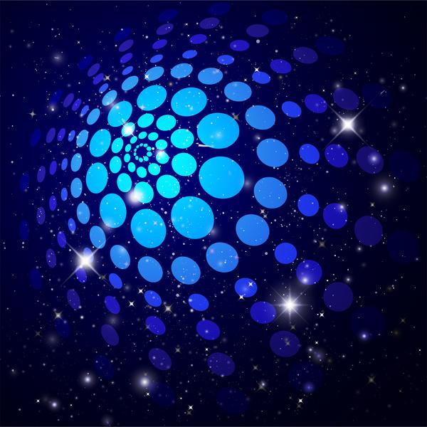 blue disco light background