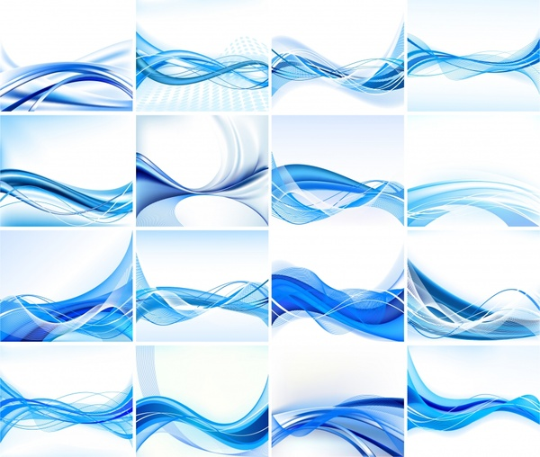 abstract background templates dynamic blue curved lines decor