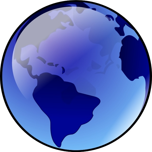 Good Blue Earth Clip Art Free Vector 231.71KB