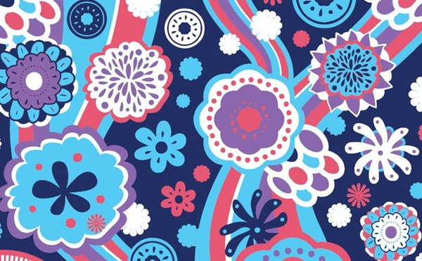 flowers background classical colorful design