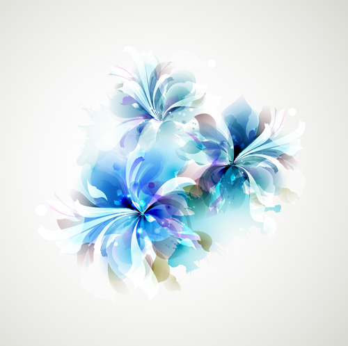 Blue Flower Backgrounds Vector Free Vector In Encapsulated