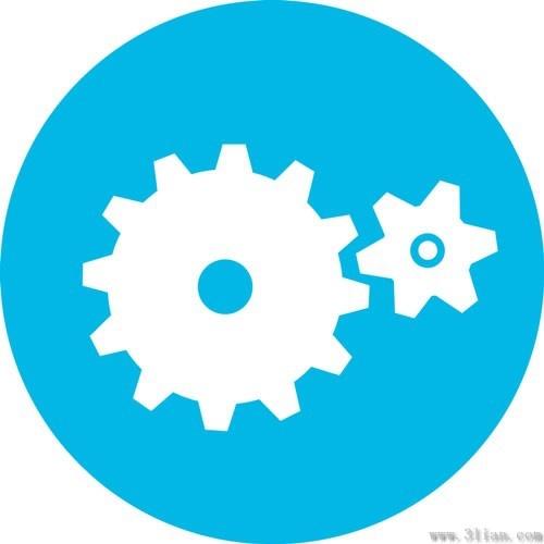 Blue gear icon vector Free vector in Adobe Illustrator ai ...