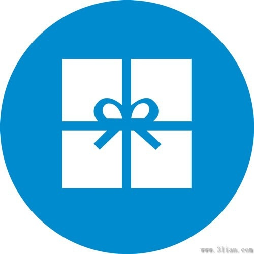 Blue Gift Box Icon Vector Free Vector In Adobe Illustrator Ai Ai Vector Illustration Graphic Art Design Format Format For Free Download 150 07kb