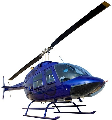 blue helicopter picture