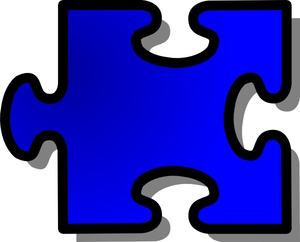 blue jigsaw puzzle piece clip art free vector in open office drawing rh all free download com puzzle piece clipart png puzzle piece clipart png