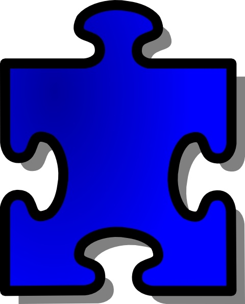 blue jigsaw puzzle piece clip art free vector in open office drawing rh all free download com jigsaw puzzle clipart free jigsaw puzzle clip art free