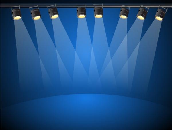 blue lights free vector in adobe illustrator ai ai