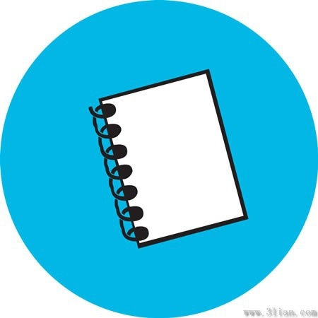 Blue notebook icon vector Free vector in Adobe Illustrator ai (  ai