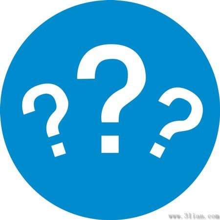 Blue Question Mark Icon Vector Free Vector In Adobe