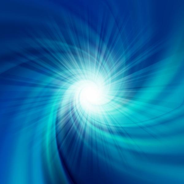 Blue rotation twirl water