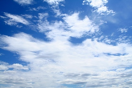 blue sky with white clouds picture 3