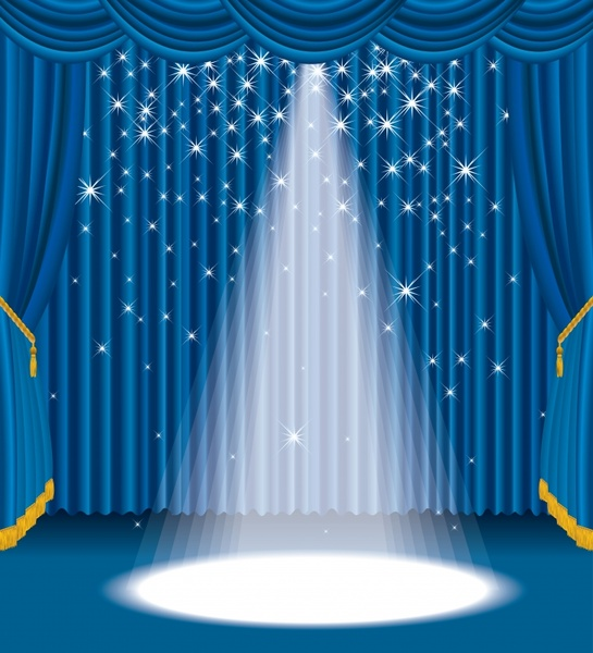 blue stage curtain vector free vector in encapsulated postscript eps