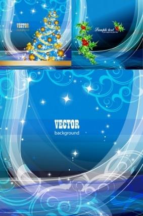 blue style christmas art background vector