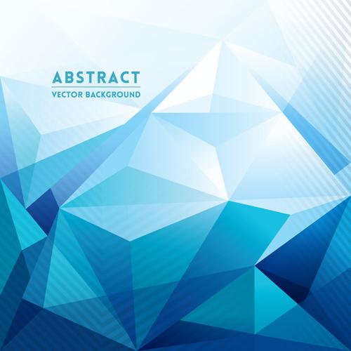 blue style geometric polygonal background vector