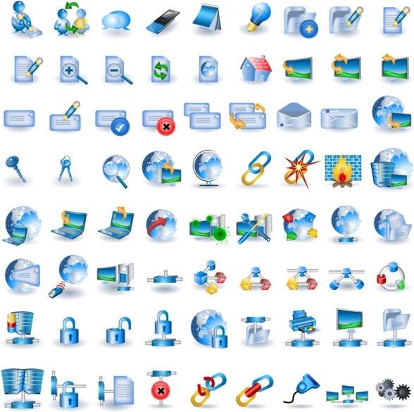blue technology icon go vector