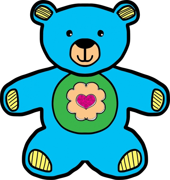 Blue teddy bear drawing vector illustration free vector in open blue teddy bear drawing vector illustration altavistaventures Image collections