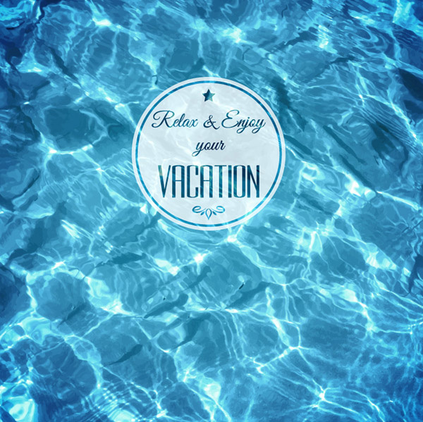blue water background art vector