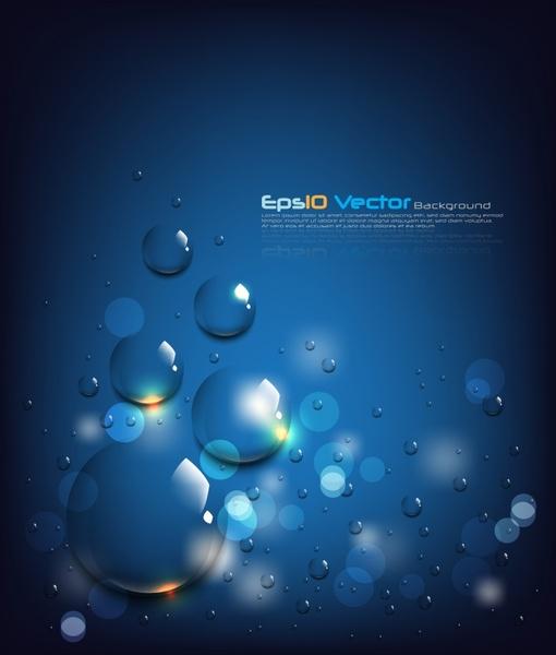 droplets background blue bokeh design