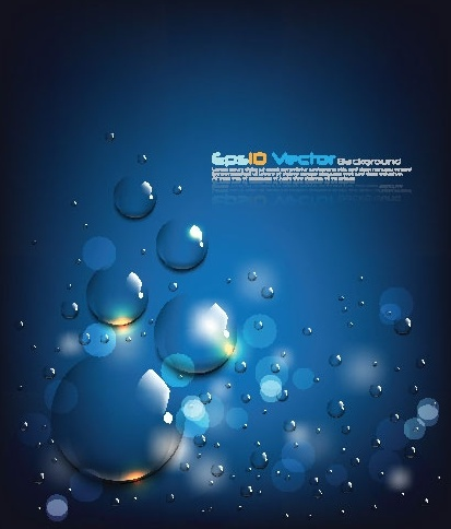 blue water drops background vector 2