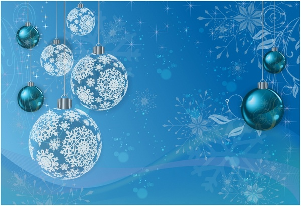 Blue Winter Holiday Background