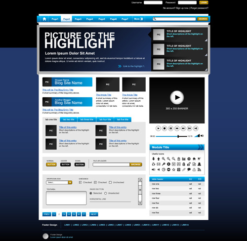 dynamic website templates free vector download  23 195