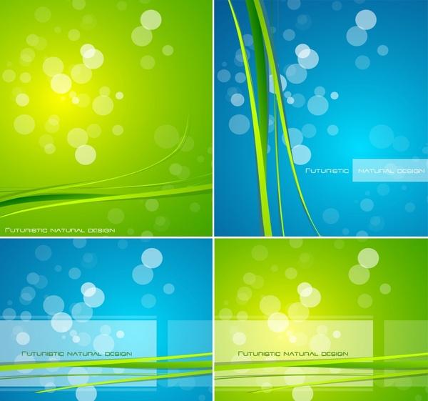 decorative background templates vivid sparkling bokeh green blue
