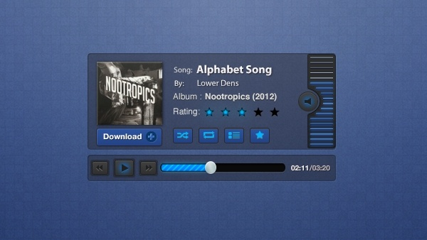 Blueprint Music Player PSD