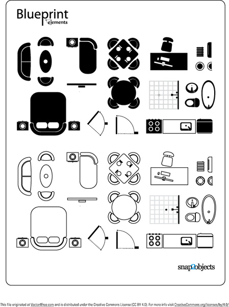 Blueprint vector elements free vector in adobe illustrator ai blueprint vector elements malvernweather Gallery