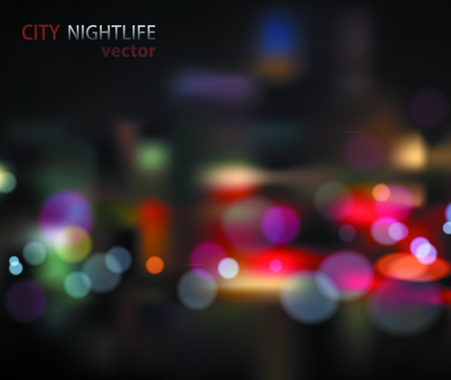 blurred city night vector background