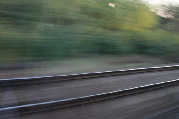 blurred motion railway