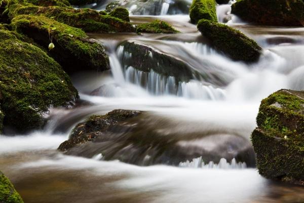 blurred water