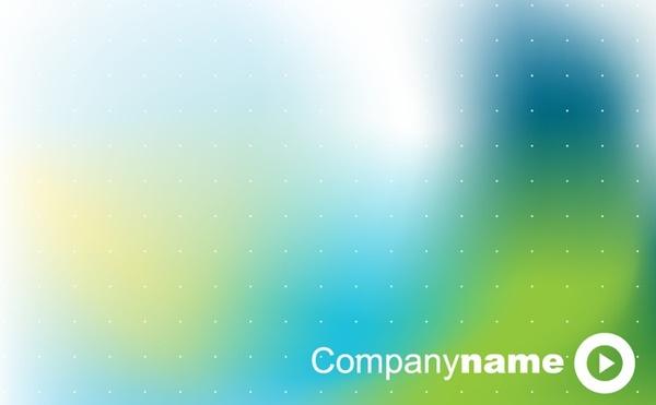 business presentation template blurry green design