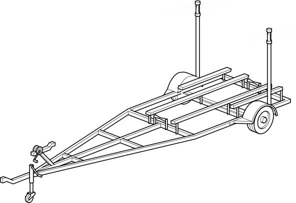 Boat Trailer clip art Free vector in Open office drawing ...