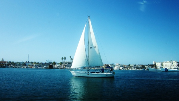 boat water blue