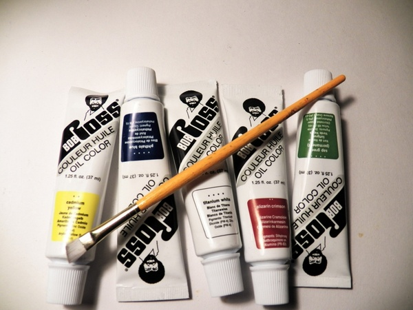 bob ross oil color paints