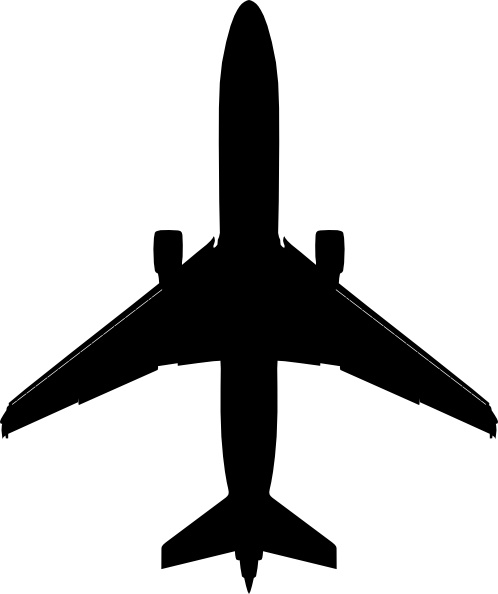 boeing plane silhouette clip art free vector in open office drawing rh all free download com