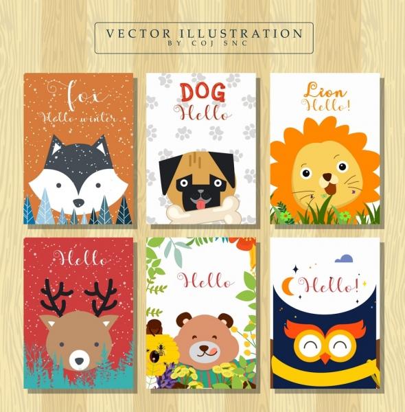 book cover templates cute animals icons decor