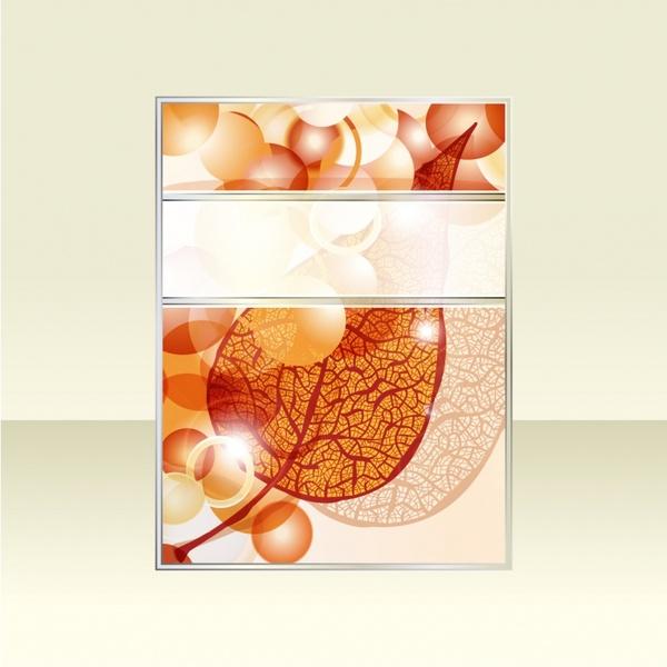book cover template sparkling bokeh blurred leaf decor