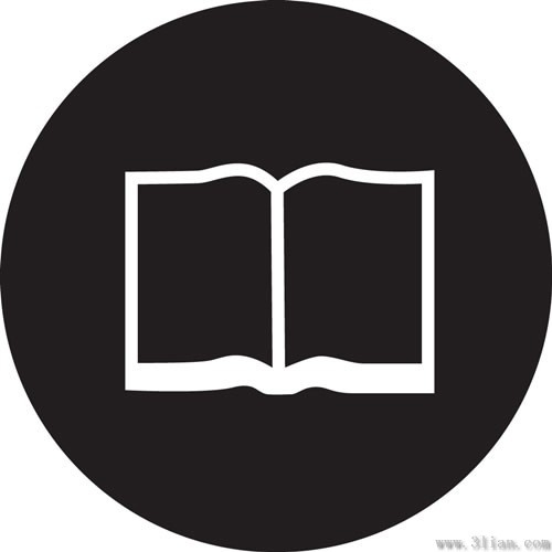 Book Icon Black Background Vector