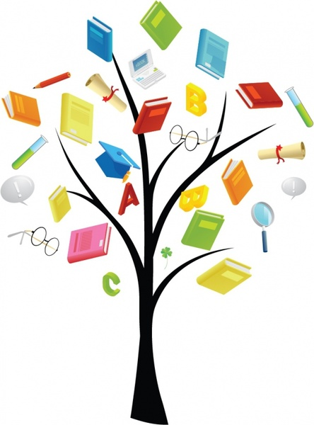 book knowledge tree free vector in adobe illustrator ai Funny Car Clip Art cartoon car wash clipart free