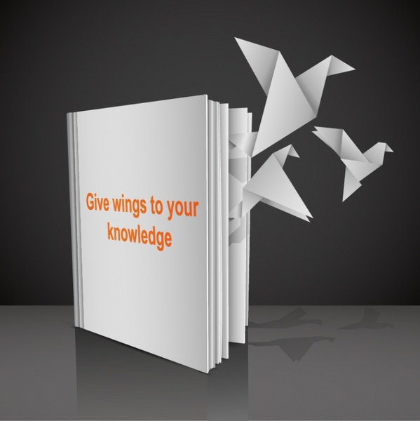 Books Paper Cranes Vector Free Vector In Encapsulated Postscript Eps