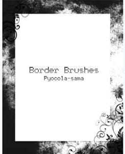 Border Brushes for Photoshop