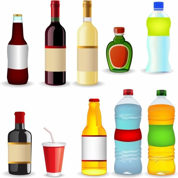 Bottles Free Vector In Adobe Illustrator Ai AI